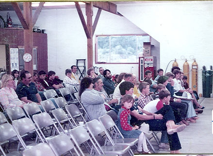 Historical photo of community meeting