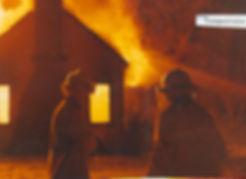 Historic fire scene photo