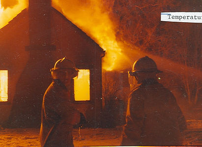 Historic fire scene photo