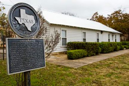 The Calaboose African American History Museum with historical marker