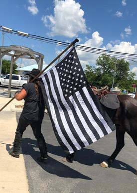 BLM flag Horse
