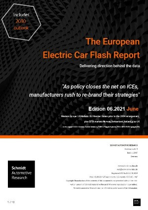 First Half 2021 European Electric Car Report Page One