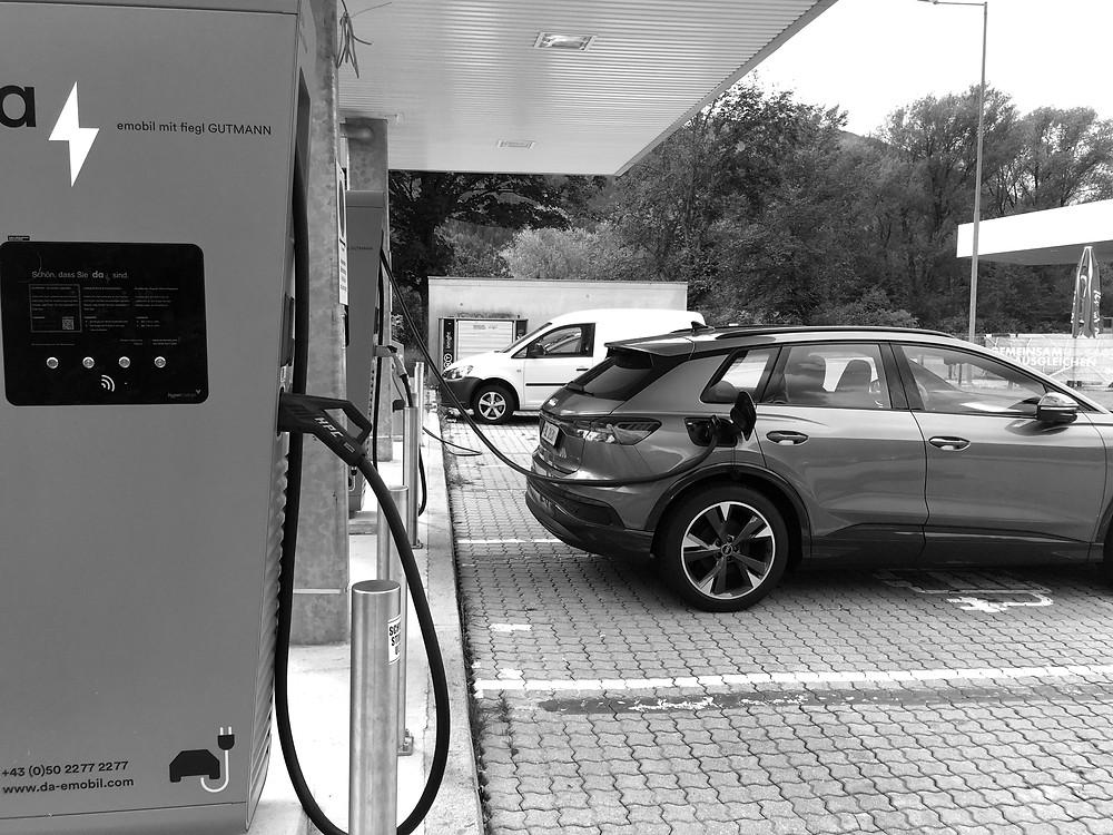 Audi EV recharging in Austria
