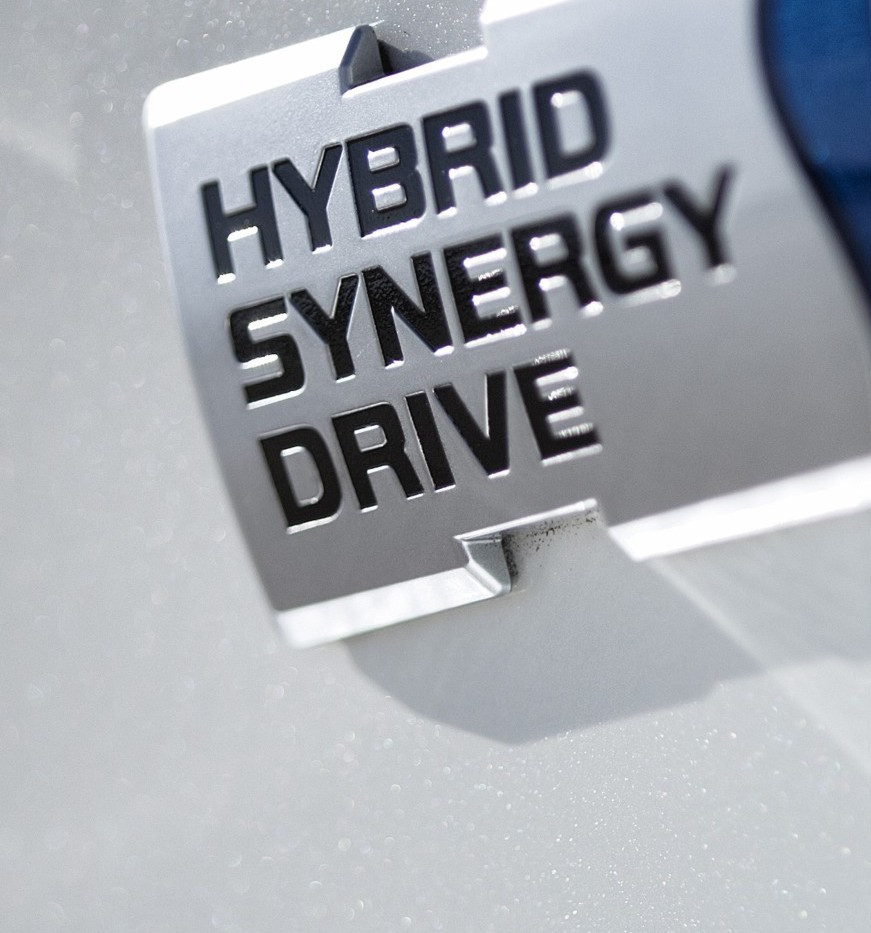 Toyota Hybrid Synergy Drive badge