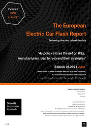 Front page of The European Electric Car Report June 2021 edition
