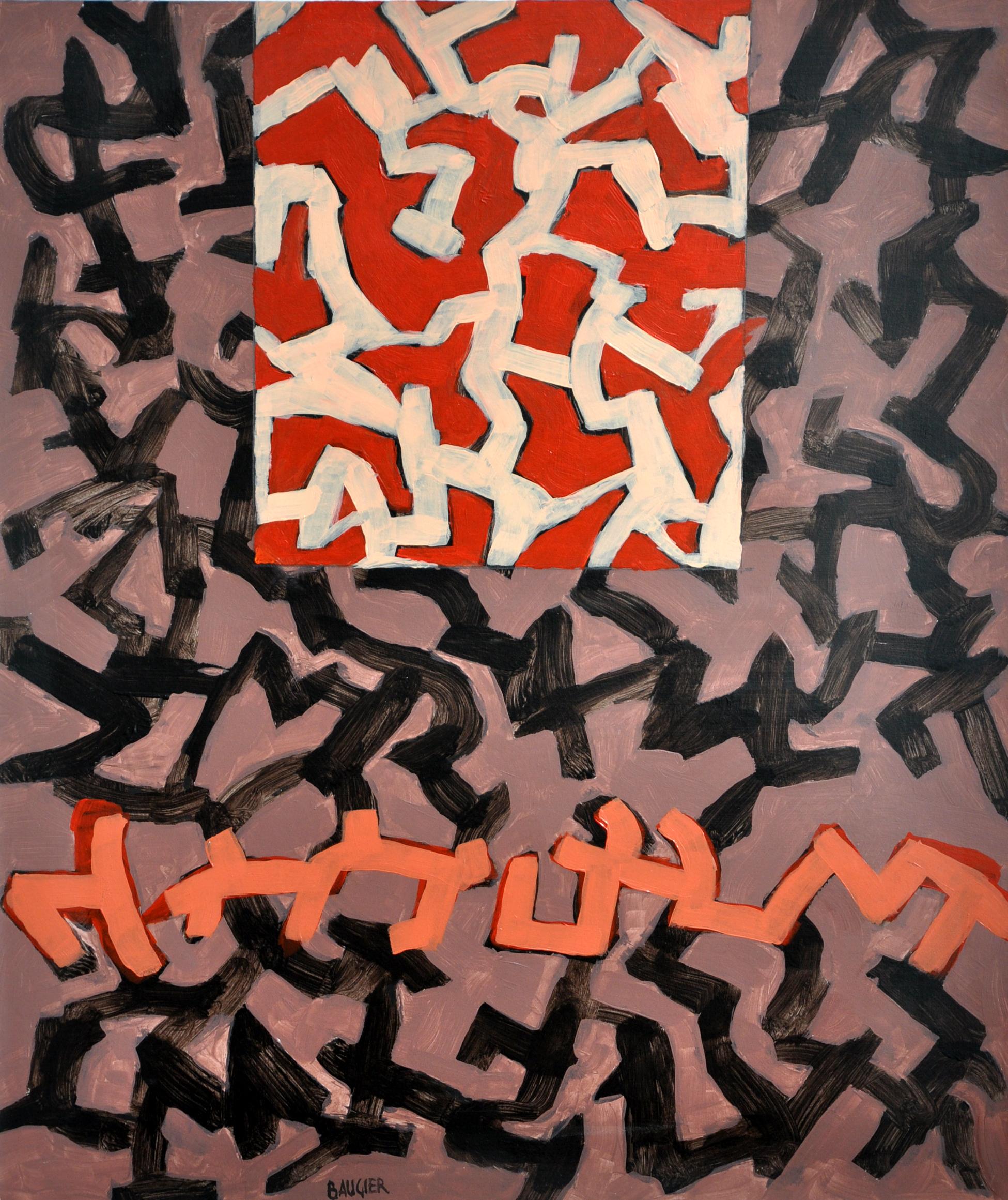 879 70X60 PAPIER SUR TOILE 2008