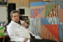 Marcel Baugier dans son atelier