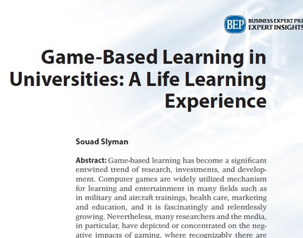 Game-Based Learning/ Educational Games