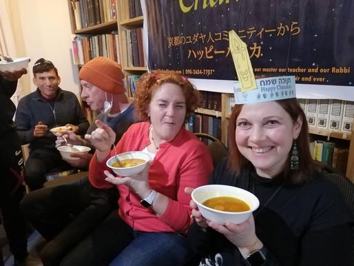 מסיבת חנוכה לקהילה בחבד קיוטו