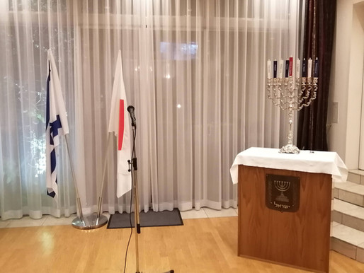 Kyoto candles at the Israeli Embassy in Japan