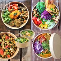 Salatbowls aus Kraftpapier