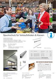 Spuckschutz Maintal, Frankfurt, Hanau, Offenbach, hängend für Verkaufstheken, Kassen, Supermärkte, Theken, Counter, Empfangstheken, Empfang