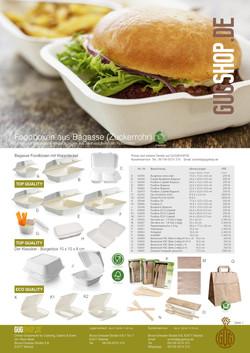 Foodboxen Bagasse (Zuckerrohr)