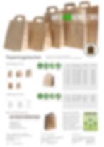 Nachhaltige Papiertragetaschen