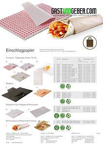 Einschlagpapier, Foodpapier, Frischpack, Metzgerpapier