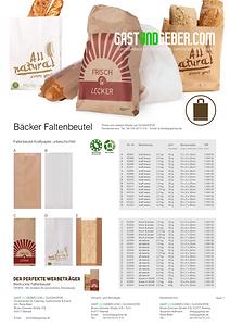 Faltenbeutel, Bäckertüten, Brottüten, Brötchentüte | GUGSCHOP.DE | GASTUNDGEBER.COM | GUG
