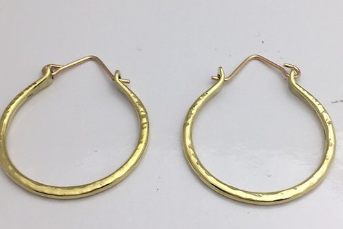 Brass Bangle Earrings