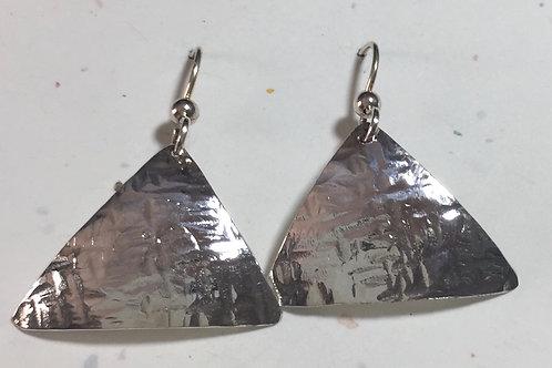 Fine Silver Earrings Pyramids