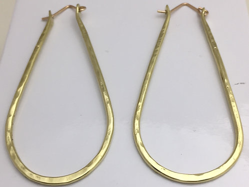 Brass Bangle Hoop Earrings