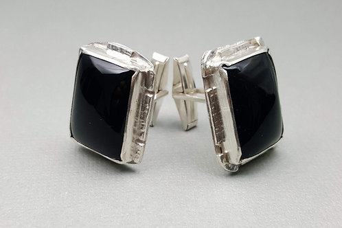 Onyx Cufflinks (Rectangle)