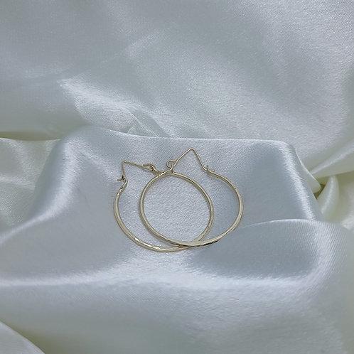 14K Gold Filled 13 gauge Round Hoop Earrings M