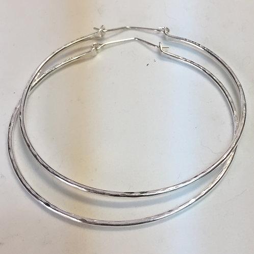 Fine Silver Bangle Hoop Earrings