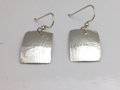 Fine Silver Earrings Square