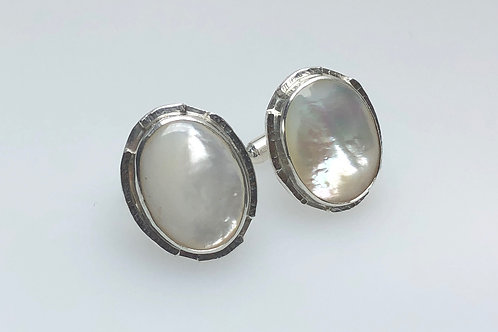Mother of Pearl Cufflinks (Oval)