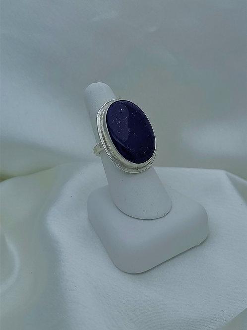 Fine Silver Lapis Ring