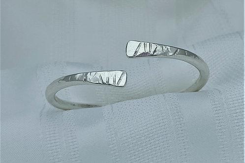 6 Gauge Fine Silver Bangle