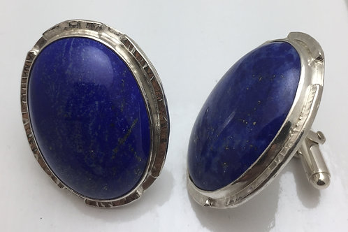 Lapis Cuff Link Oval
