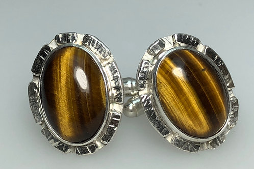 Tiger Eye Cufflinks (Oval)