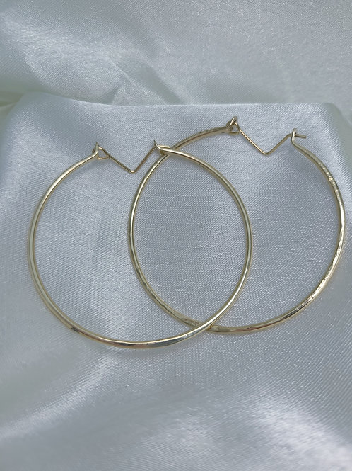 14K Gold Filled 13 gauge Round Hoops L