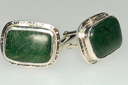 Jade Cufflinks (Rectangle)