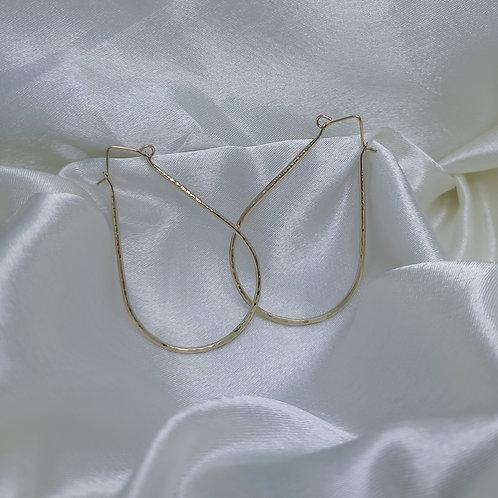 14K Gold Filled 13 gauge Horseshoe Hoop Earrings L