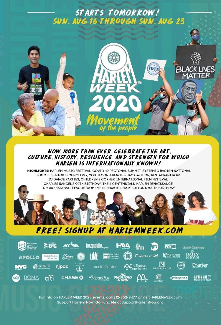 Harlem Week 2020 register https://harlemweek.com/