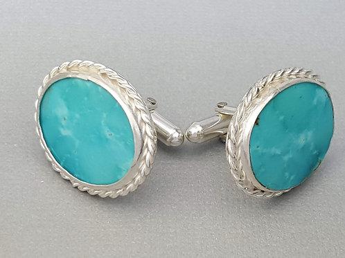 Turquoise Cufflinks (Oval)