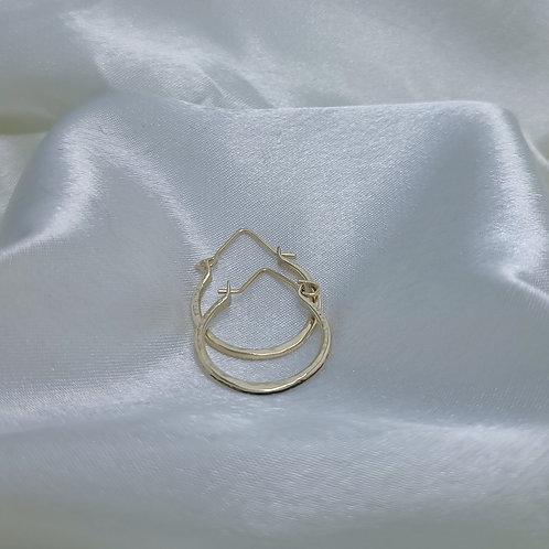 14K Gold Filled 13 gauge Round Hoop Earrings S