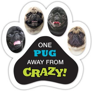 One Pug away from Crazy! (PM388)