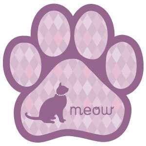 meow (cat on purple diamonds) (PM166)