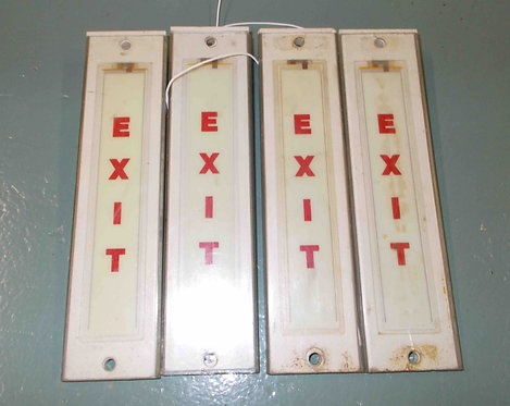737 Lighted Cabin Signs, aircraft sim parts