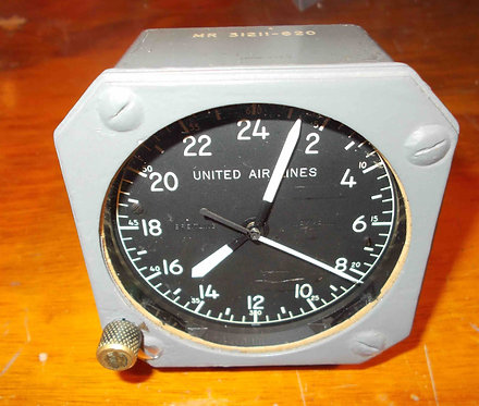Wakmann Breitling Cockpit Clock with UAL Logo