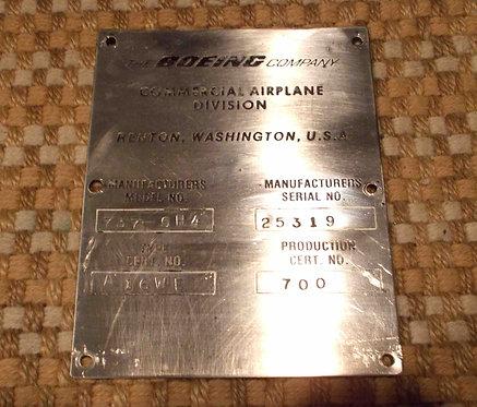 737-500 Data Plate