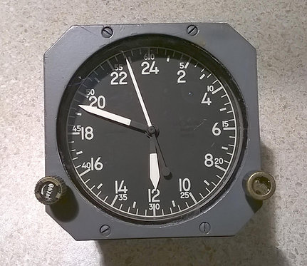 airline cockpit clock