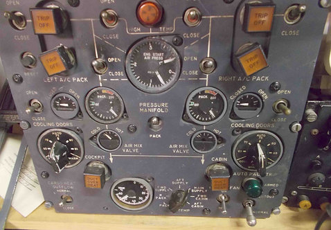 727-200 Pneumatics Panel,  cockpit sim parts for sale