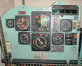 cockpit instrument panels, throttle quadrants, airplane instruments