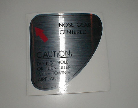 Boeing Nose Steering Centering Decal