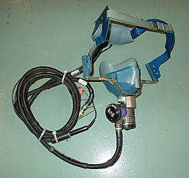 airline oxygen masks, cockpit oxygen masks, smoke goggles
