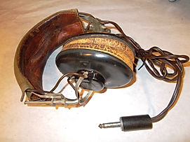 airplane headsets, vintage headsets