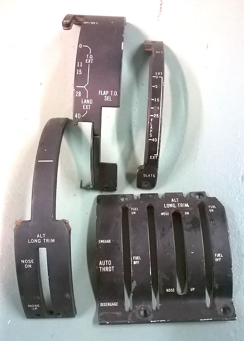 DC-9/MD-80 Throttle Quadrant Lightplates